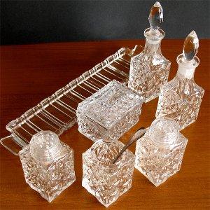 画像2: グラスのクルエットセット