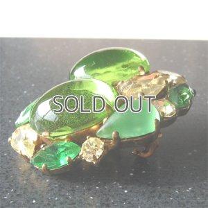 画像1: ライトグリーンのブローチ